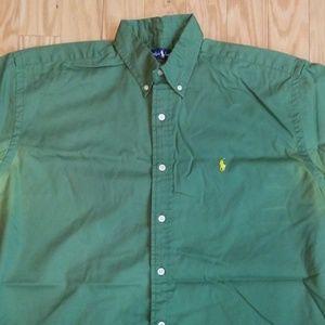 Polo by Ralph Lauren Shirts - Polo Ralph Lauren Green Short Sleeved Shirt